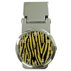 Skin4 Black Marble & Yellow Leather Money Clip Watches