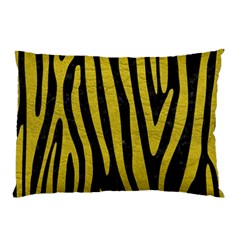 Skin4 Black Marble & Yellow Leather Pillow Case