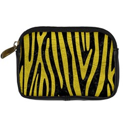 Skin4 Black Marble & Yellow Leather Digital Camera Cases