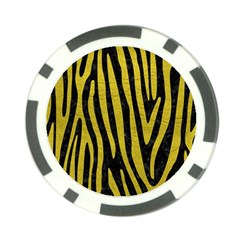 Skin4 Black Marble & Yellow Leather Poker Chip Card Guard (10 Pack)