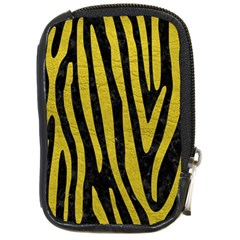 Skin4 Black Marble & Yellow Leather Compact Camera Cases