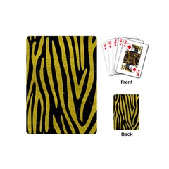 Skin4 Black Marble & Yellow Leather Playing Cards (mini)