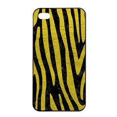 Skin4 Black Marble & Yellow Leather Apple Iphone 4/4s Seamless Case (black)