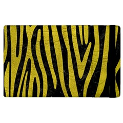 Skin4 Black Marble & Yellow Leather Apple Ipad 2 Flip Case