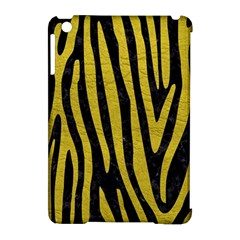 Skin4 Black Marble & Yellow Leather Apple Ipad Mini Hardshell Case (compatible With Smart Cover)