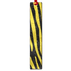 Skin4 Black Marble & Yellow Leather Large Book Marks