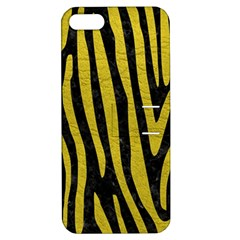Skin4 Black Marble & Yellow Leather Apple Iphone 5 Hardshell Case With Stand