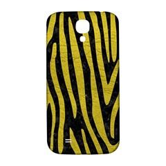 Skin4 Black Marble & Yellow Leather Samsung Galaxy S4 I9500/i9505  Hardshell Back Case