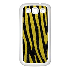 Skin4 Black Marble & Yellow Leather Samsung Galaxy S3 Back Case (white)
