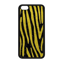 Skin4 Black Marble & Yellow Leather Apple Iphone 5c Seamless Case (black)