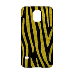Skin4 Black Marble & Yellow Leather Samsung Galaxy S5 Hardshell Case