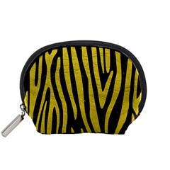 Skin4 Black Marble & Yellow Leather Accessory Pouches (small)