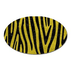 Skin4 Black Marble & Yellow Leather (r) Oval Magnet