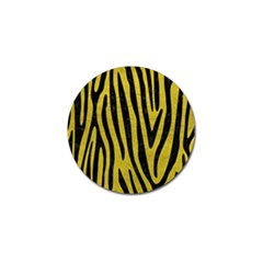 Skin4 Black Marble & Yellow Leather (r) Golf Ball Marker