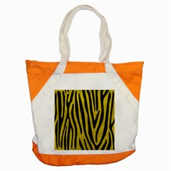 Skin4 Black Marble & Yellow Leather (r) Accent Tote Bag