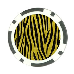 Skin4 Black Marble & Yellow Leather (r) Poker Chip Card Guard
