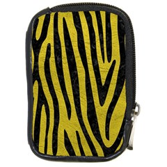 Skin4 Black Marble & Yellow Leather (r) Compact Camera Cases