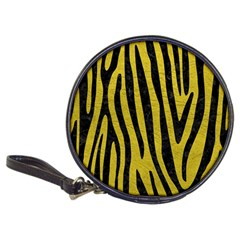 Skin4 Black Marble & Yellow Leather (r) Classic 20 Cd Wallets