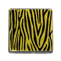 Skin4 Black Marble & Yellow Leather (r) Memory Card Reader (square)