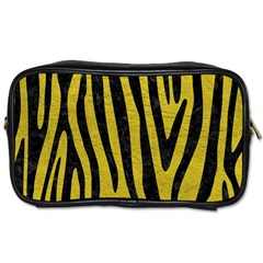 Skin4 Black Marble & Yellow Leather (r) Toiletries Bags