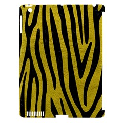 Skin4 Black Marble & Yellow Leather (r) Apple Ipad 3/4 Hardshell Case (compatible With Smart Cover)