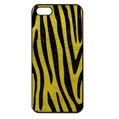 Skin4 Black Marble & Yellow Leather (r) Apple Iphone 5 Seamless Case (black)