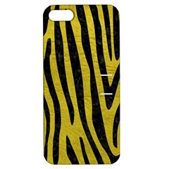 Skin4 Black Marble & Yellow Leather (r) Apple Iphone 5 Hardshell Case With Stand