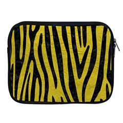 Skin4 Black Marble & Yellow Leather (r) Apple Ipad 2/3/4 Zipper Cases