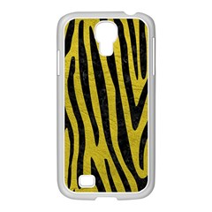 Skin4 Black Marble & Yellow Leather (r) Samsung Galaxy S4 I9500/ I9505 Case (white)