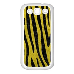 Skin4 Black Marble & Yellow Leather (r) Samsung Galaxy S3 Back Case (white)