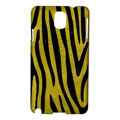 Skin4 Black Marble & Yellow Leather (r) Samsung Galaxy Note 3 N9005 Hardshell Case