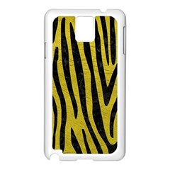 Skin4 Black Marble & Yellow Leather (r) Samsung Galaxy Note 3 N9005 Case (white)