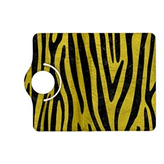 Skin4 Black Marble & Yellow Leather (r) Kindle Fire Hd (2013) Flip 360 Case