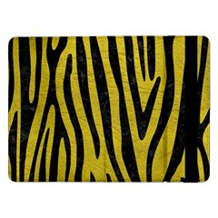 Skin4 Black Marble & Yellow Leather (r) Samsung Galaxy Tab Pro 12 2  Flip Case