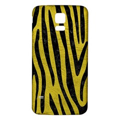 Skin4 Black Marble & Yellow Leather (r) Samsung Galaxy S5 Back Case (white)