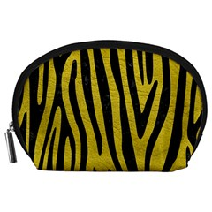 Skin4 Black Marble & Yellow Leather (r) Accessory Pouches (large)