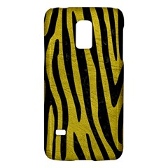 Skin4 Black Marble & Yellow Leather (r) Galaxy S5 Mini