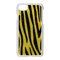 Skin4 Black Marble & Yellow Leather (r) Apple Iphone 8 Seamless Case (white)