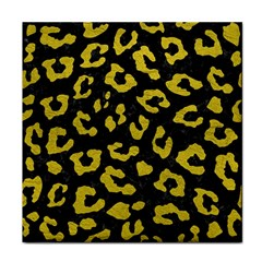 Skin5 Black Marble & Yellow Leather Tile Coasters