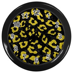 Skin5 Black Marble & Yellow Leather Wall Clocks (black)