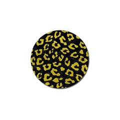 Skin5 Black Marble & Yellow Leather Golf Ball Marker