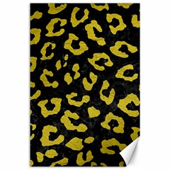 Skin5 Black Marble & Yellow Leather Canvas 24  X 36