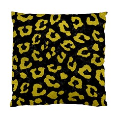 Skin5 Black Marble & Yellow Leather Standard Cushion Case (one Side)
