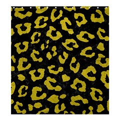 Skin5 Black Marble & Yellow Leather Shower Curtain 66  X 72  (large)