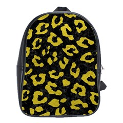 Skin5 Black Marble & Yellow Leather School Bag (large)