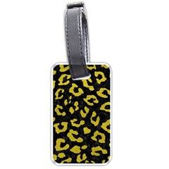 Skin5 Black Marble & Yellow Leather Luggage Tags (two Sides)