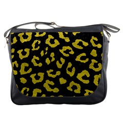 Skin5 Black Marble & Yellow Leather Messenger Bags