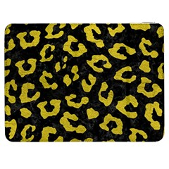 Skin5 Black Marble & Yellow Leather Samsung Galaxy Tab 7  P1000 Flip Case