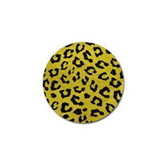 Skin5 Black Marble & Yellow Leather (r) Golf Ball Marker