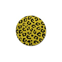 Skin5 Black Marble & Yellow Leather (r) Golf Ball Marker (10 Pack)